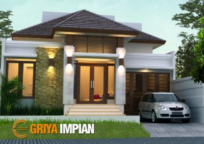 Desain Griya 1 Lantai di Lahan 10 x 20 M2 Bergaya Bali Tropis